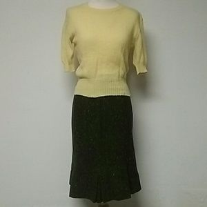 Vintage 1960s Wool Pencil Skirt